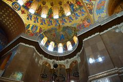 Fragment of the interior of the St. Nicholas Cathedral. In Kronstadt Royalty Free Stock Image
