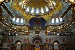 Fragment of the interior of the St. Nicholas Cathedral. In Kronstadt Royalty Free Stock Images