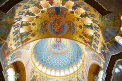 Fragment of the interior of the St. Nicholas Cathedral. In Kronstadt Royalty Free Stock Photography