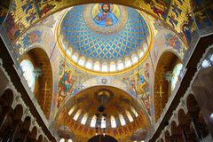Fragment of the interior of the St. Nicholas Cathedral. In Kronstadt Stock Photos