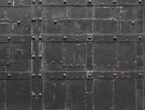 Fragment of Iron door Stock Image