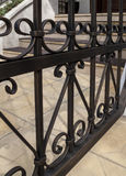 Fragment of an iron fence Stock Image