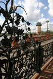 A fragment of the iron fence Stock Photos