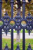 Fragment of iron gate. Royalty Free Stock Photo