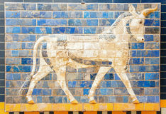 Fragment of the Ishtar Gate Royalty Free Stock Photos