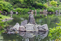 Fragment of a japanese garden Stock Image