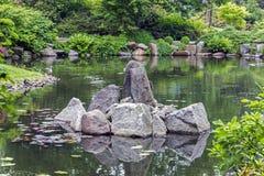 Fragment of a japanese garden Stock Image