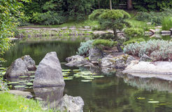 Fragment of a japanese garden Royalty Free Stock Image