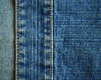 Fragment of jeans Royalty Free Stock Photos