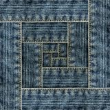 Fragment of jeans Royalty Free Stock Photo