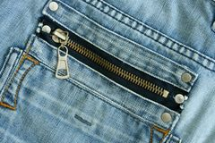 Fragment Jeans close up Royalty Free Stock Photography