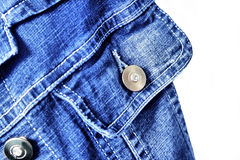Fragment of jeans jacket Royalty Free Stock Images