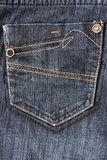 Fragment of jeans with pocket Stock Image