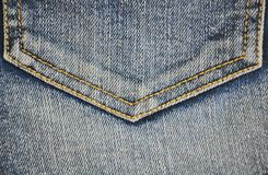 Fragment of jeans pocket, closeup. Stock Images