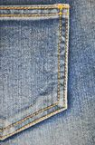 Fragment of jeans pocket, closeup. Stock Image