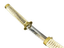 Fragment of katana, samurai sword Royalty Free Stock Photography