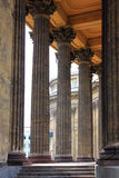 Fragment of Kazan Cathedral in St. Petersburg Stock Photography