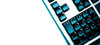 Fragment of keyboard blue Royalty Free Stock Images