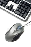 Fragment of keyboard and mouse Stock Images