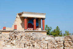 Fragment of Knossos Palace Royalty Free Stock Photos