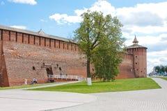 Fragment of the Kremlin wall, city Kolomna Royalty Free Stock Photos