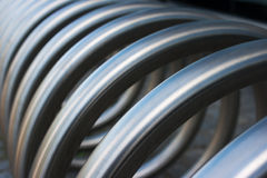 Fragment of large metal spiral Royalty Free Stock Photo