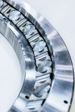 Fragment of a large roller bearing. Abstract industrial background Royalty Free Stock Image