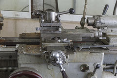 A fragment of a lathe. Royalty Free Stock Image
