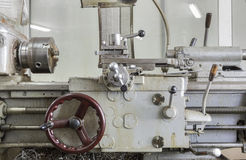 A fragment of a lathe. Stock Images