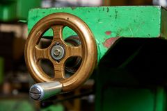 Fragment of the lathe. Fragment of the old lathe Stock Photography