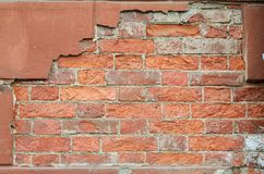A fragment of a laying from a brick. Royalty Free Stock Photos