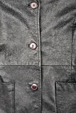 Fragment of leather jacket Royalty Free Stock Image