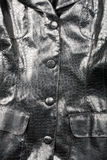 Fragment of leather jacket Royalty Free Stock Images