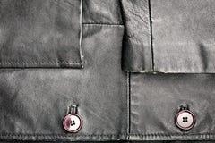 Fragment of leather jacket Royalty Free Stock Image