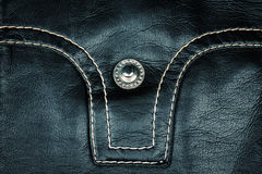 Fragment of leather jacket Royalty Free Stock Photography