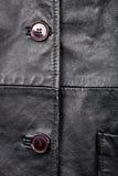 Fragment of leather jacket Stock Photography