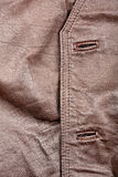 Fragment of leather vest Royalty Free Stock Image