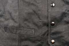 Fragment of leather vest Royalty Free Stock Photography