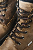 Fragment Leather Winter Boot Royalty Free Stock Photo