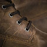 Fragment Leather Winter Boot Royalty Free Stock Images