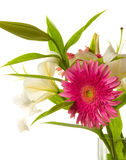 Fragment of lilies and gerberas ' bunch Royalty Free Stock Photo