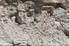 Fragment of a limestone rock on a Maltese beach. royalty free stock photo