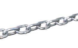 Fragment of links a chain close up Stock Photo
