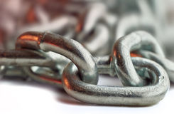 Fragment of links of a chain Royalty Free Stock Photo