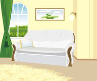 Fragment of living room. Classic style royalty free stock image