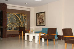 Fragment of the lobby five stars hotel. stock image