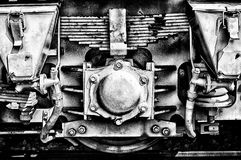A fragment of the locomotive Royalty Free Stock Photo