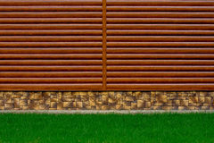 A fragment of a log home Stock Photo
