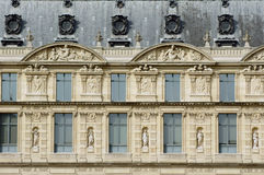 Fragment of the Louvre Royalty Free Stock Photography