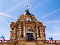 Fragment of Luxemburg Palace in Paris. France Stock Images